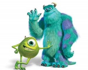 "Characters from Pixar's ""Monster's Inc"""